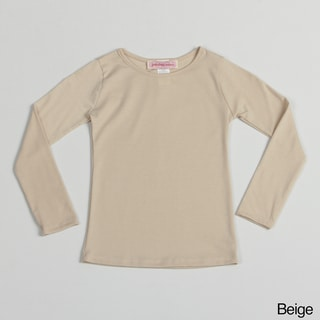 Paulinie Girl's Long Sleeve Basic Top