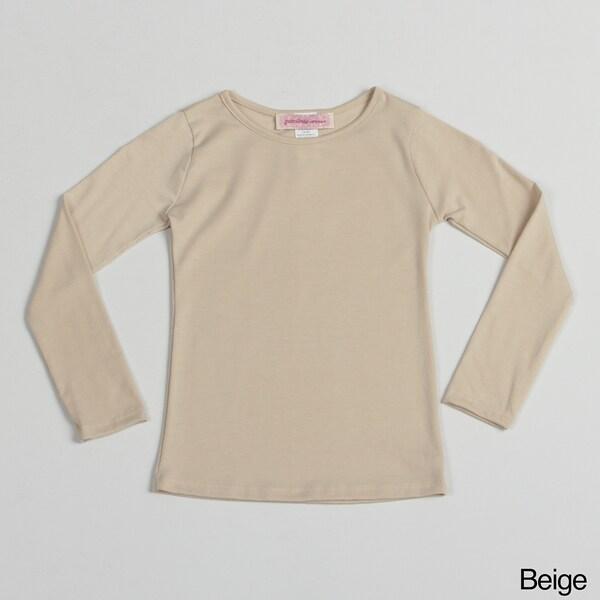 Paulinie Girl's Long Sleeve Basic Top