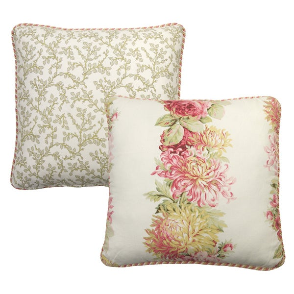 Rose Tree English Romance 18x18-inch Decorative PIllow
