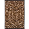 Aboriginal Lines Multi Area Rug (7'9 x 10'10)
