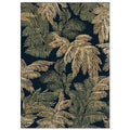 Archival Fern Black Area Rug (2'6 x 7'9)
