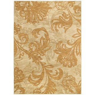 Bahama Bloom Beige Area Rug (5'5 x 7'9)