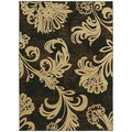 Bahama Bloom Black Area Rug (1'10 x 2'9)