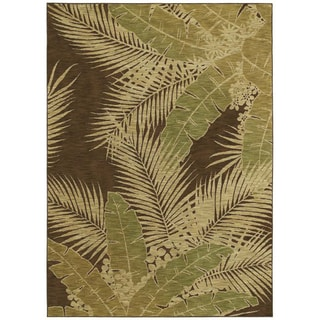 Tommy Bahama Carnival Palms Dark Brown Rug (22 x 33)