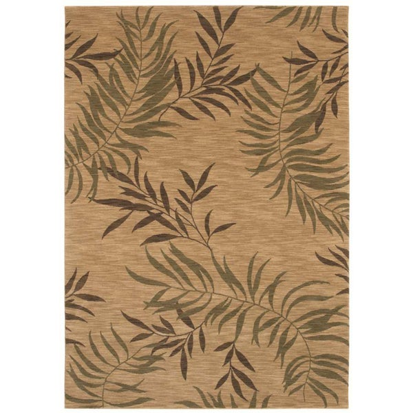 Tommy Bahama Florist Greens Beige Home Rug (7'9 x 10'10)