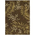 Tommy Bahama Florist Greens Dark Brown Home Rug (1'10 x 2'9)