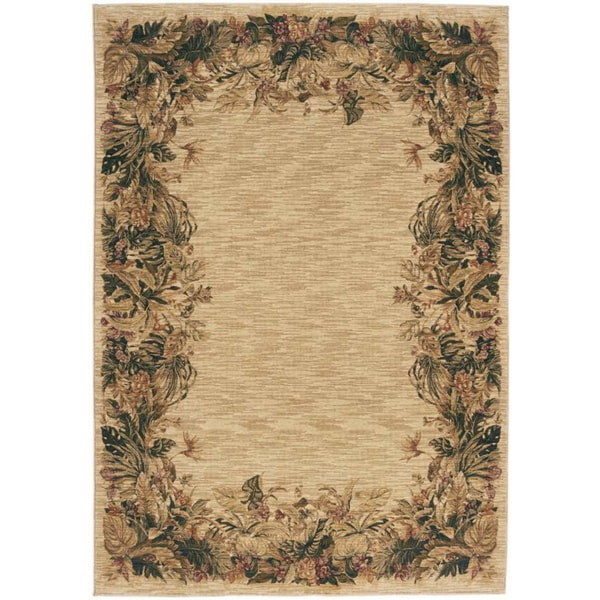 Tommy Bahama Home Rugs 'Frond Memories' Beige Rug (2'6 x7'9)
