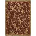 Tommy Bahama Home 'Garden Gate' Cranberry Rug (2'6 x 7'9)