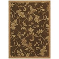 Tommy Bahama Home 'Garden Gate' Dark Brown Rug (2'6 x 7'9)