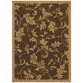 Tommy Bahama Home 'Garden Gate' Dark Brown Rug (3'6 x 5)