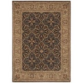 Tommy Bahama Home 'Havana Bay' Dark Brown Rug (3'6 x 5)
