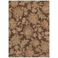 Tommy Bahama Island Bloom Dark Brown Rug (2'6 x 7'9)