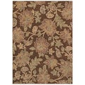 Tommy Bahama Island Bloom Dark Brown Rug (7'9 x 10'10)