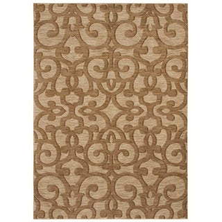 Tommy Bahama Island Lattice Beige Rug (5'5 x 7'9)