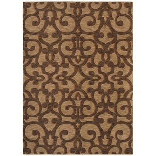 Tommy Bahama Island Lattice Gold Rug (7'9 x 10'10)