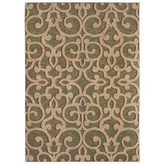 Tommy Bahama Island Lattice Ocean Green Rug (5'5 x 7'9)