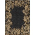 Tommy Bahama Jungle Tumble Black Rug (2'6 x 11'5)