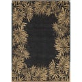 Tommy Bahama Jungle Tumble Black Rug (3'10 x 5'4)