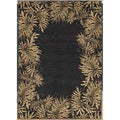 Tommy Bahama Jungle Tumble Black Rug (7'9 x 10'10)