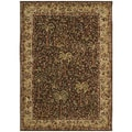 Tommy Bahama 'Monaco Palms' Dark Brown Rug (2'6 x 7'9)