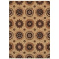 Tommy Bahama Home Rugs Beige Murri Suzani Transitional Rug (7'9 x 10'10)