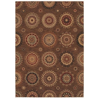 Tommy Bahama Home Rugs Dark Brown Murri Suzani Transitional Rug (5'5 x 7'9)
