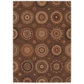 Tommy Bahama Home Rugs Dark Brown Murri Suzani Transitional Rug (7'9 x 10'10)