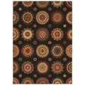Tommy Bahama Home Rugs Black Murri Suzani Transitional Rug (7'9 x 10'10)