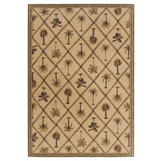 Tommy Bahama Home Rugs Beige Palms Away Transitional Rug (5'4 Round)