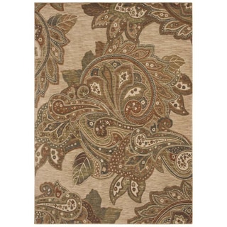 Tommy Bahama Home Rugs Light Multicolored Paradiso Paisley Transitional Rug (5'5 x 7'9)