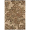 Tommy Bahama Home Rugs Light Multicolored Paradiso Paisley Transitional Rug (7'9 x 10'10)