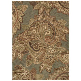Tommy Bahama Home Rugs Ocean Green Paradiso Paisley Transitional Rug (5'5 x 7'9)