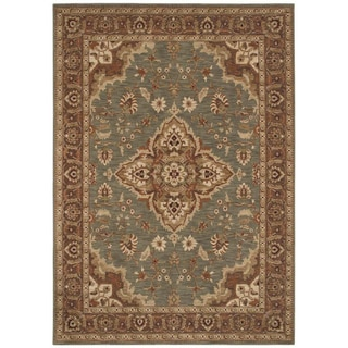 Tommy Bahama Home Rugs Ocean Green Port Royal Medallion Traditional Rug (5?5 x 7?9)