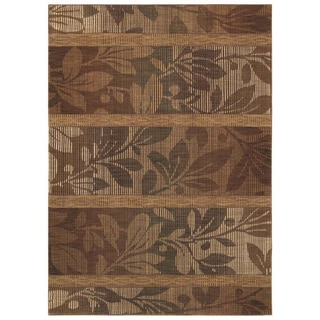Tommy Bahama Home Rugs Light Multicolored South Seas Silhouette Transitional Runner Rug (2'6