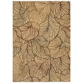 Tommy Bahama Home Rugs Beige Sunset Palms Transitional Rug (2'6 x 7'9)
