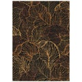 Tommy Bahama Home Rugs Black Sunset Palms Transitional Rug (1'10 x 2'9)