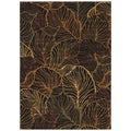 Tommy Bahama Black Sunset Palms Area Rug (3'6 x 5')