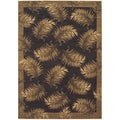Tommy Bahama Black Tahitian Breeze Area Rug (2'6 x 11'5)