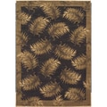 Tommy Bahama Black Tahitian Breeze Area Rug (2'6 x 7'9)