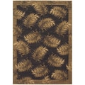 Tommy Bahama Black Tahitian Breeze Area Rug (9'6 x 12'10)