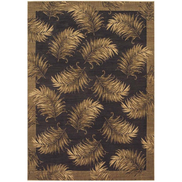 Tommy Bahama Black Tahitian Breeze Area Rug (9'6 x 12'10)