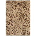 Tommy Bahama Gold Tossed Palm Area Rug 2'6 x 7'9)