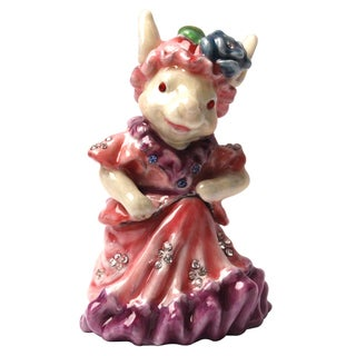Cristiani Lady Rabbit Trinket Box with Crystals