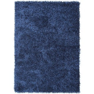 Ombre Blue Solid Shag Rug (2' x 3')