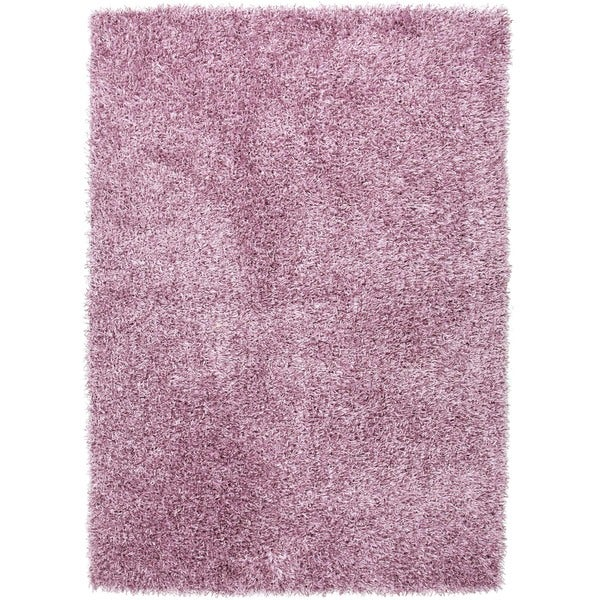 Pink/ Purple Solid Shag Rug (9' x 13')