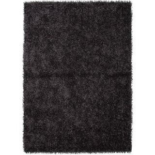 Gray/ Black Solid Shag Rug (9' x 13')