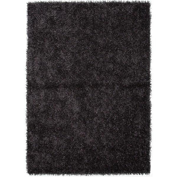 Gray/ Black Solid Shag Rug (9' x 13')