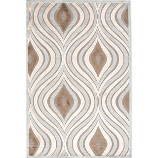 Modern Abstract Viscose/ Chenille Rug (7'6 x 9'6)