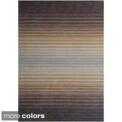 'Cuba' Hand-loomed Striped Wool Rug