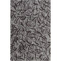 "Allie Handmade Abstract Grey Contemporary Wool Rug (5' x 7' 6"")"